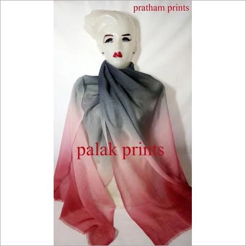 Multi Color Silk Wool Ombre Stoles