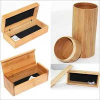 Optical Square Complete In Wooden Box Round Type