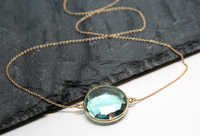 Blue Topaz Gemstone Pendant