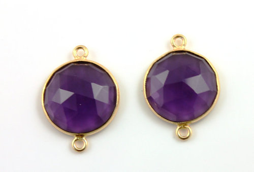 Amethyst Gemstone Connector