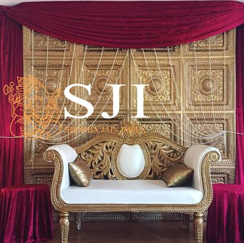 Gold Back Carving Sofa
