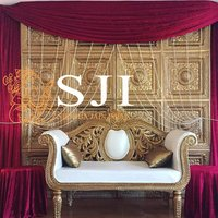 Gold Back Carving Sofa