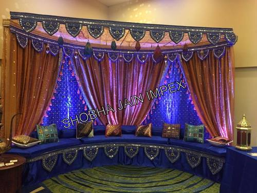Blue Themed Sangeet Stage