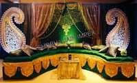 Paisely Theme Sangeet Stage