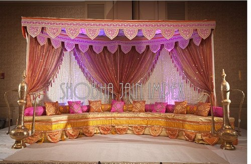 Wedding Mehandi Stage Bride Bench