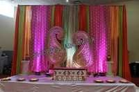 Drapes and Paisleys Sangeet Stage