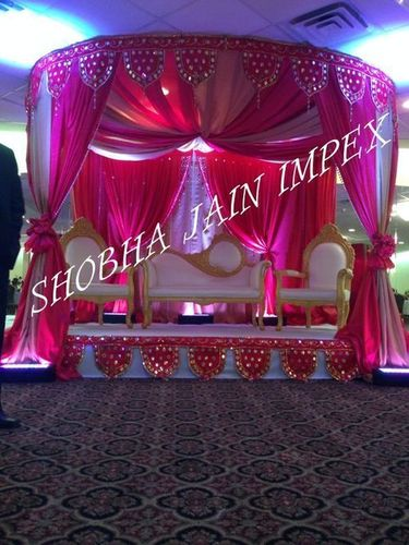 Red Wedding Drape Mandap