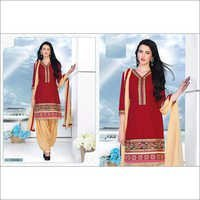 Fancy Red punjabi cotton daily wear suit women wear salwar kameez 109