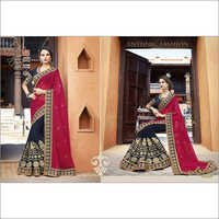 Elegent Black and Marun Sangeet saree 2101