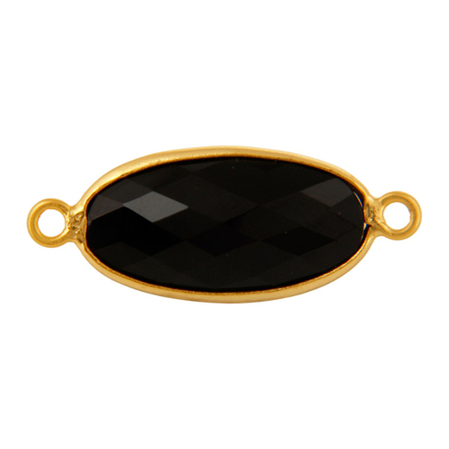 Black Onyx Gemstone Connector