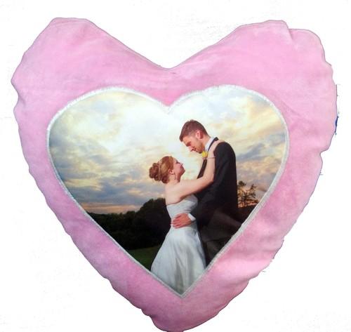 Pink Velvet Heart CushionDS-326