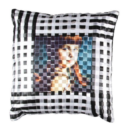 Black & White Check Cushion 16X16DS-385