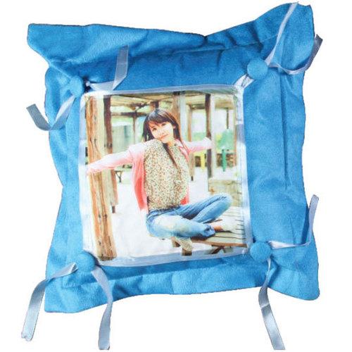 Sky Blue Button CushionDS-388