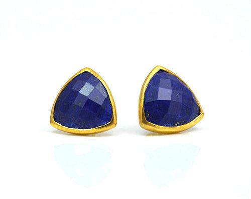 Lapis Lazuli Gemstone Studs