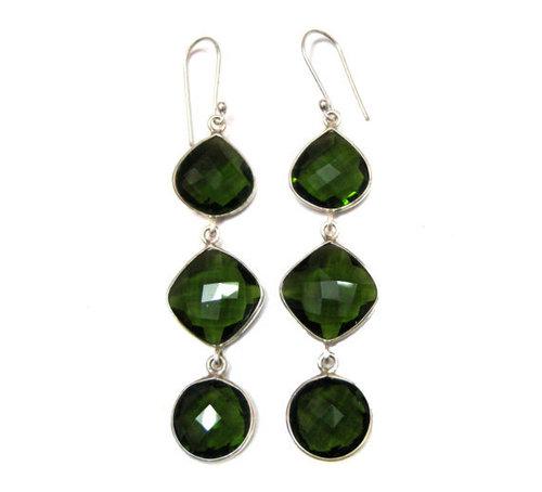 Green Tourmaline Gemstone Earring