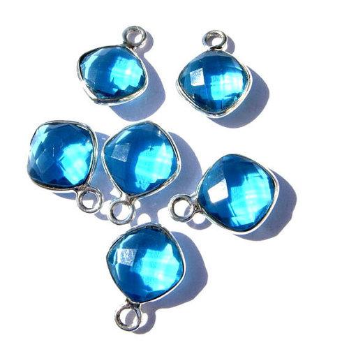Blue Topaz Gemstone Connectors