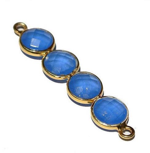 Blue Chalcedony Gemstone Connectors