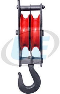 Manila Rope Pulley Block Double Sheeve