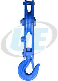 Manila Rope Pulley Block Single Sheeve With Safety Latch