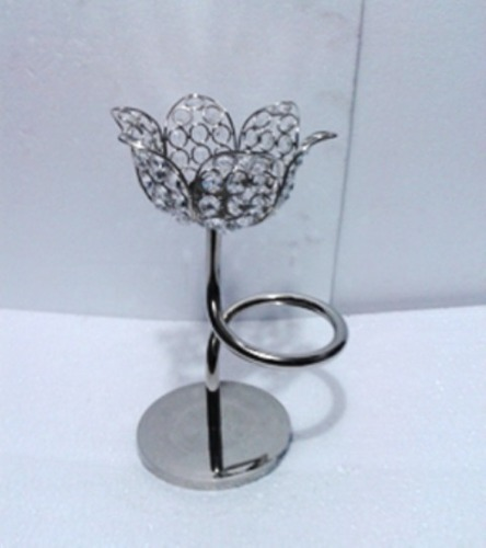 Lotus Flower Crystal Candle Holder