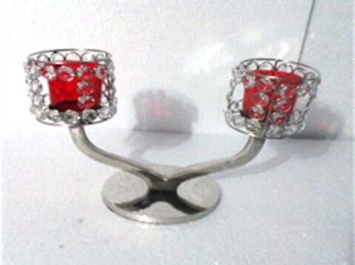 Red 2 Arms Glass Votive