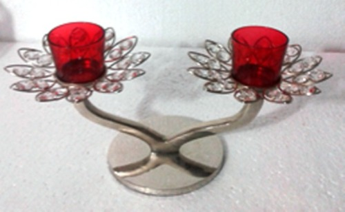 Red Flower ARMS  GLASS VOTIVE 2