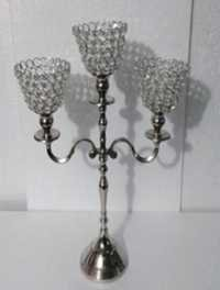 3 Crystal Cone  T-LIGHT CANDLE STAND 2