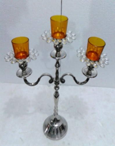 3 ARM GLASS VOTIVE CANDLE STAND 3