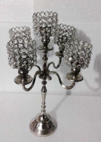 5 Crystal Ball  T-LIGHT CANDLE STAND 1