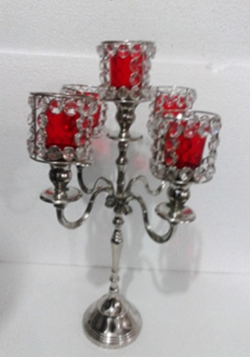 5 ARM GLASS VOTIVE CANDLE STAND