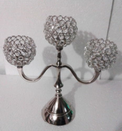 3 Crystal Ball T-LIGHT CANDLE STAND