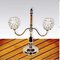 DECORATIVE  TWO ARM  CANDLE HOLDER WITH  CRYSTAL