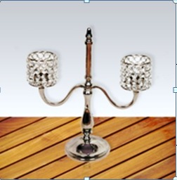 DECORATIVE  TWO ARM  CANDLE HOLDER