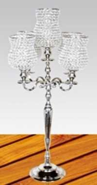DECORATIVE  FIVE ARM  CANDLE HOLDER WITH  CRYSTAL