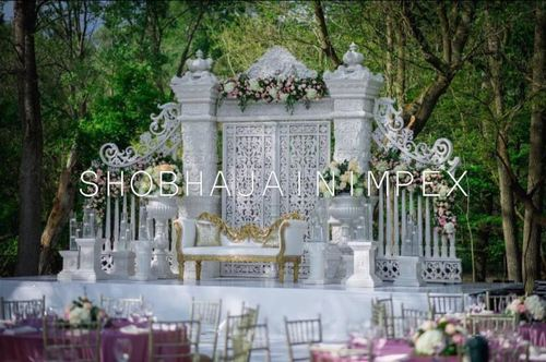 Reception Wedding Stage Decoration