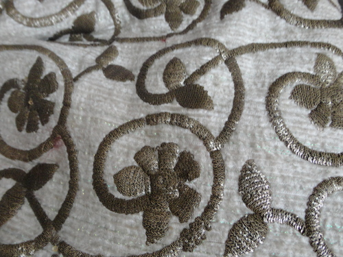 Dyeable Embroidery Fabrics wholeseller