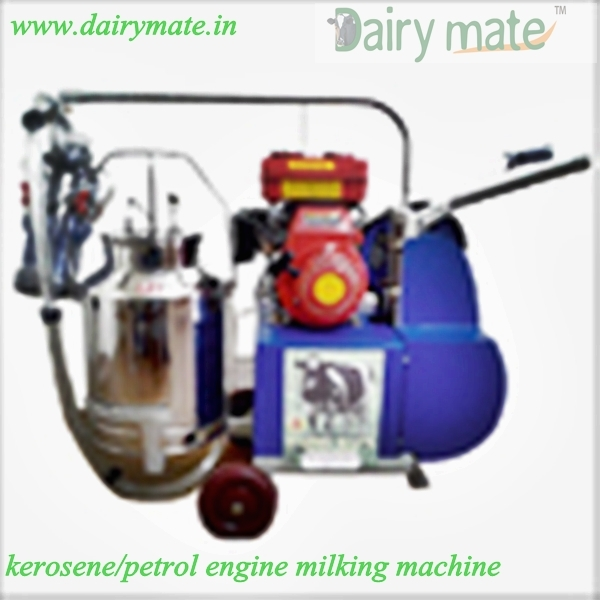 Engine Operated Single Bucket Milking Machine