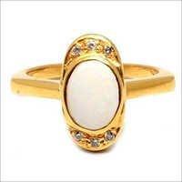 Opal & Zircun Gemstone Ring