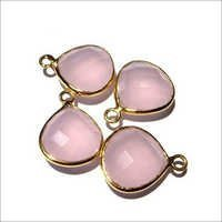 Pink Chalcedony Gemstone Connector