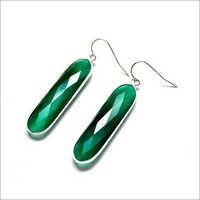 Green Onyx Gemstone Earring