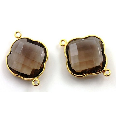 Smoky Topaz Gemstone Connector