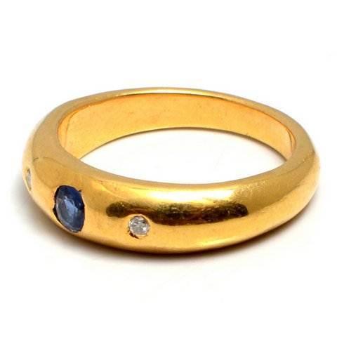 Sapphire & Diamond Gemstone Ring