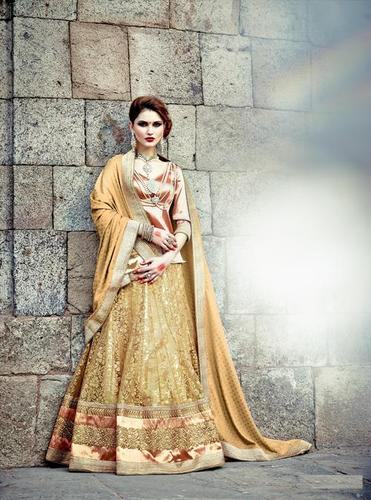 Designer Beige Bridal Wedding Lehenga