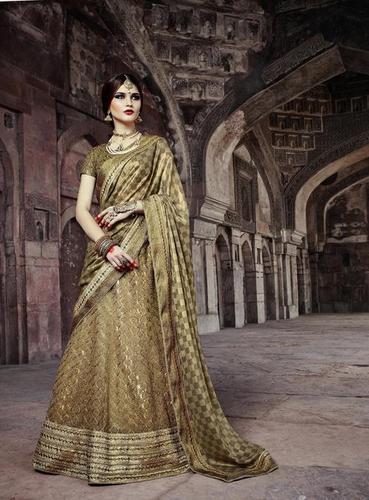 Indian Wedding bridal Green Lehenga choli 7392