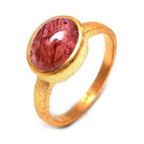 Pink Tourmaline Gemstone Ring