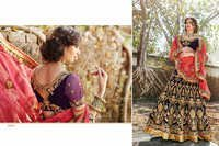 Elegant Black Heavy Embroidery Wedding lehenga 3203