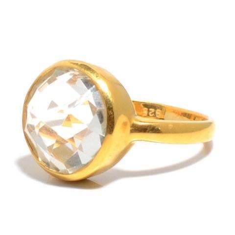 Crystal Quartz Gemstone Ring