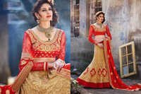 Elegent Beige and Red Wedding Lehenga 3205