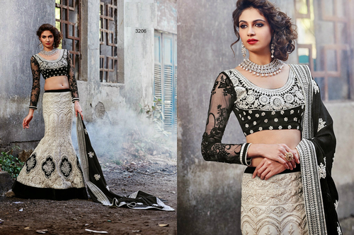 Designer white Wedding Bridal Lehenga 3206