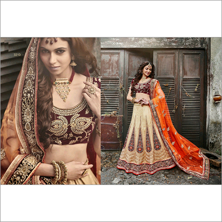 Designer Indian Bollywood Bridal  Saree Sari Lehenga 3210